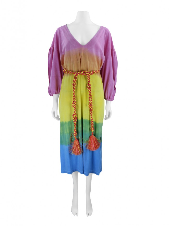 Vestido Mixed Cover Up Sunset