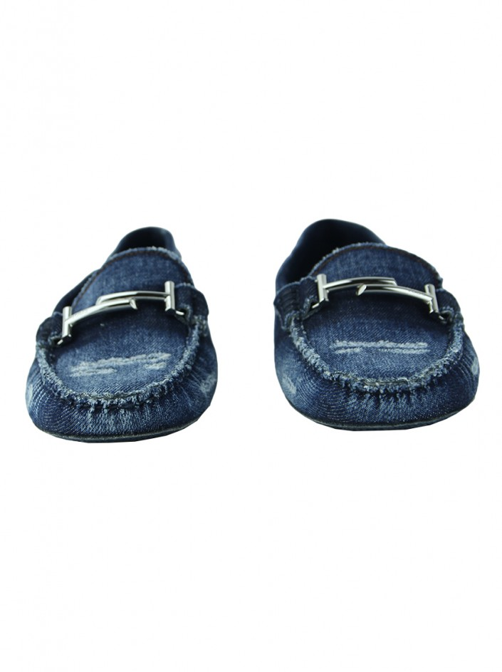 Sapato Tod''s Double T Loafer Denim