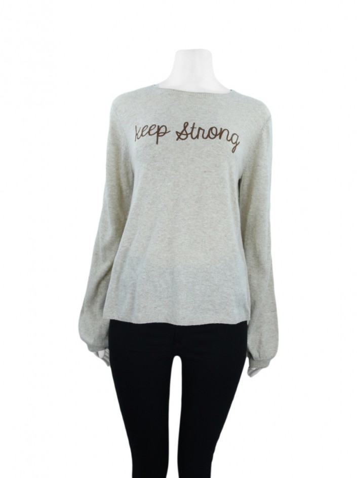Blusa Mixed Tricot Keep Strong Bege