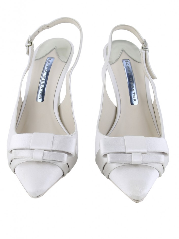 Sapato Sophia Webster Andie Mid Wifey Off White