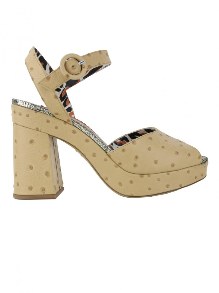Sapato Charlotte Olympia Into The Wild Bege