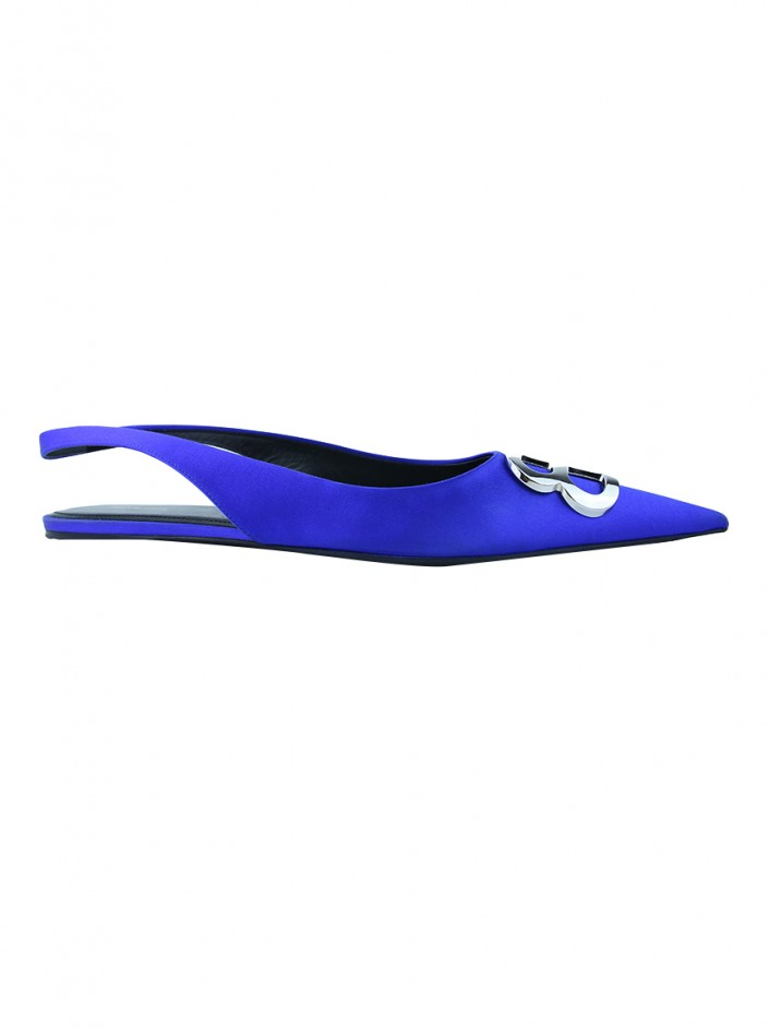 Slipper Balenciaga BB Knife Azul