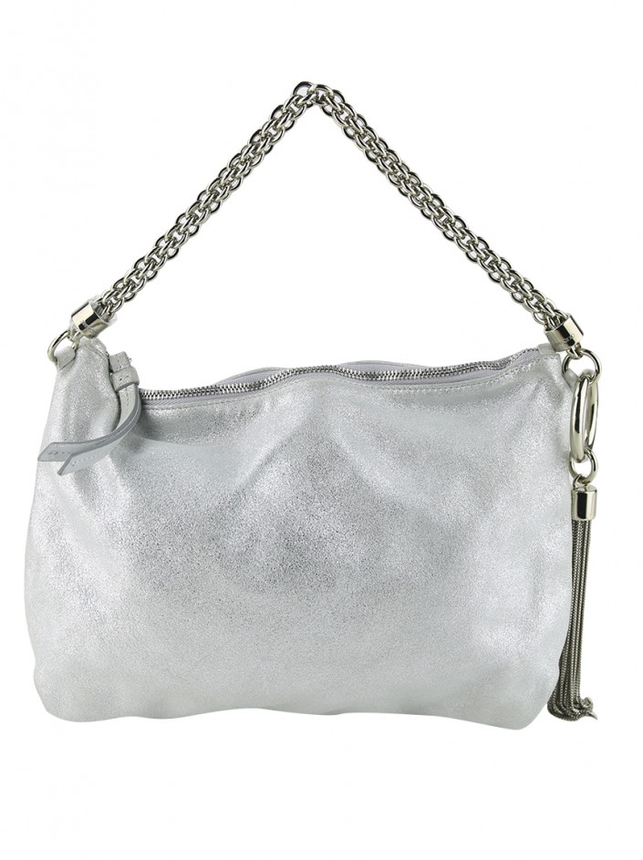 Clutch Jimmy Choo Callie Silver Metallic