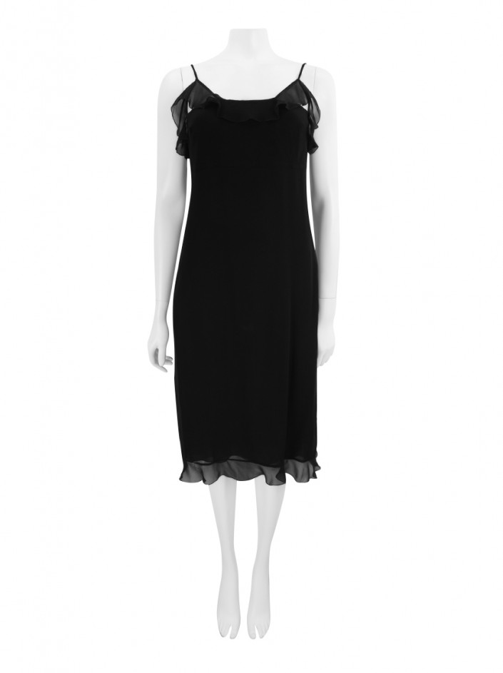 Vestido Chanel Boutique Seda Preto
