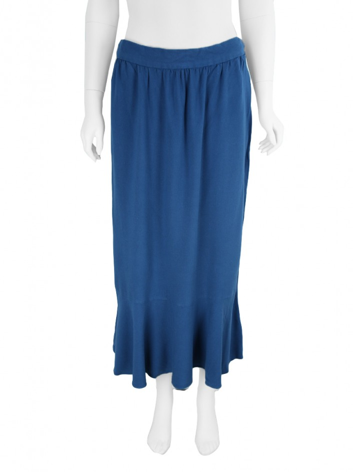 Saia Candy Brown Midi Azul