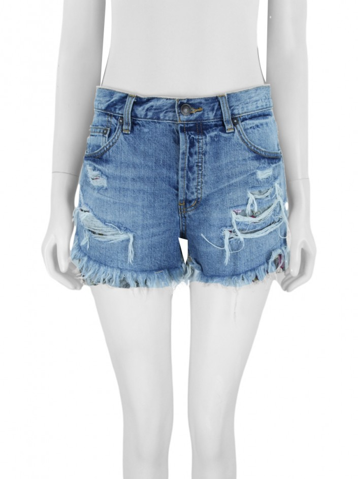 Shorts Free People Jeans Azul