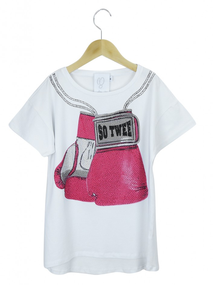 Blusa Achados do EU So Twee By Miss Grant Luva Box Branca Infantil