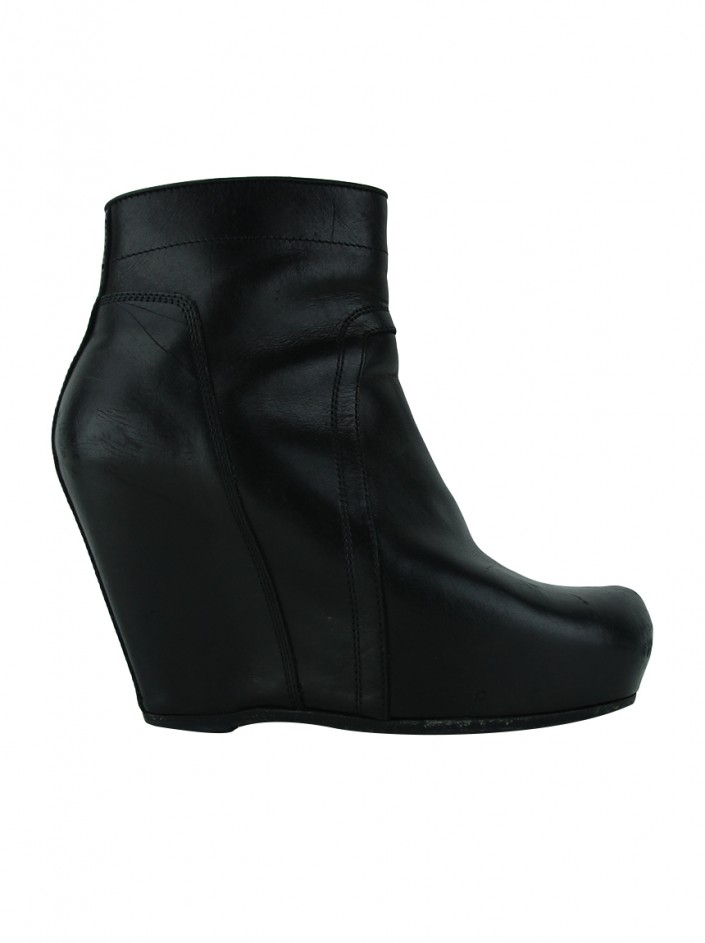 Ankle Boot Rick Owens Couro Preto