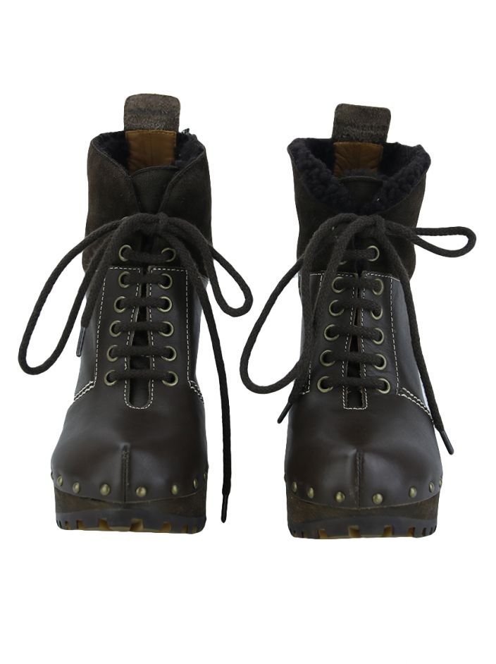 Ankle boots See by Chloé Couro Marrom