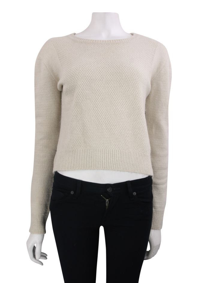 Blusa Animale Tricot Bege
