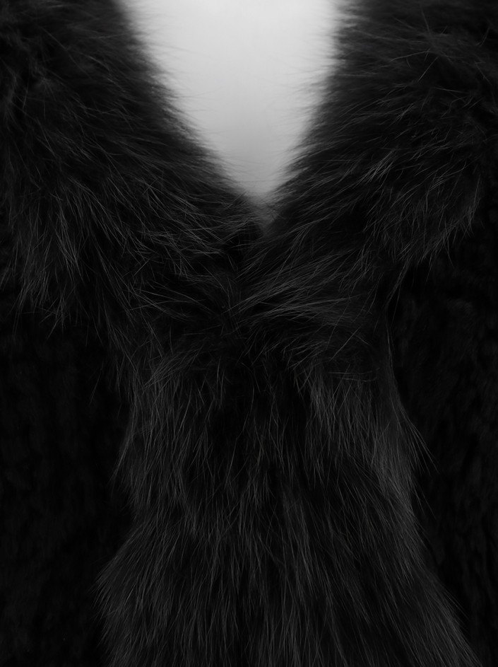 Colete Neiman Marcus Cashmere Collection Cropped Marrom