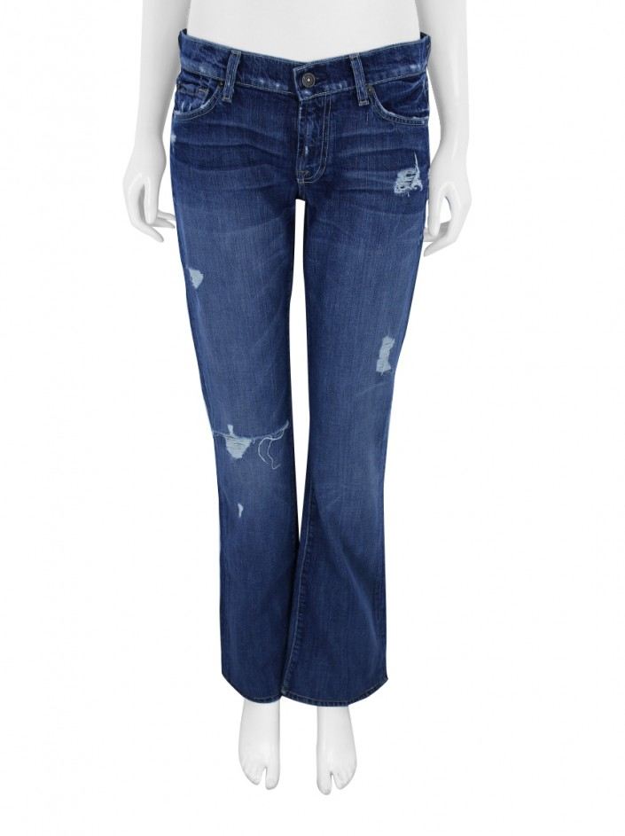 Calça Seven For All Mankind Bootcut Jeans Destroyed