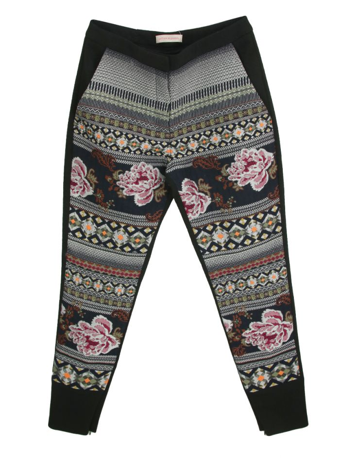 Calça Matthew Williamson Jacquard Estampada