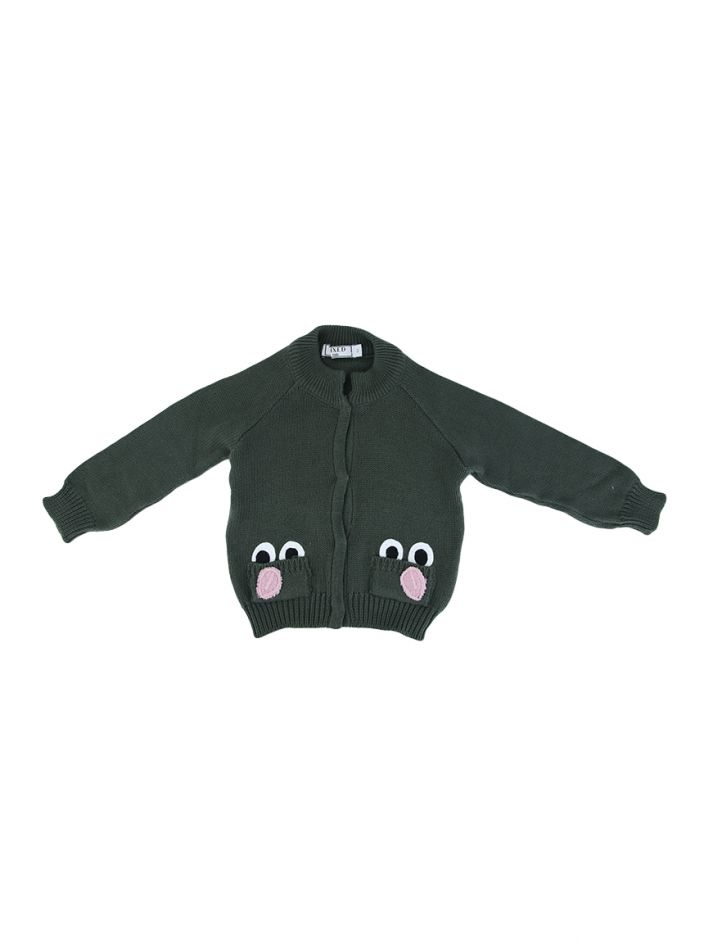 Casaco Mixed Kids Tricot Verde