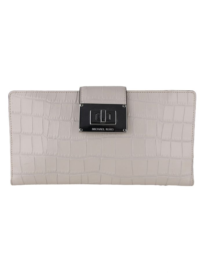 Clutch Michael Kors Embossed Off-White