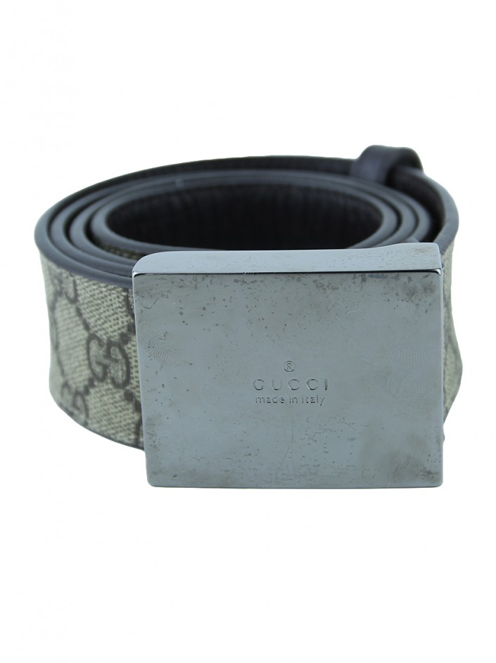 Cinto Gucci GG Canvas Bege