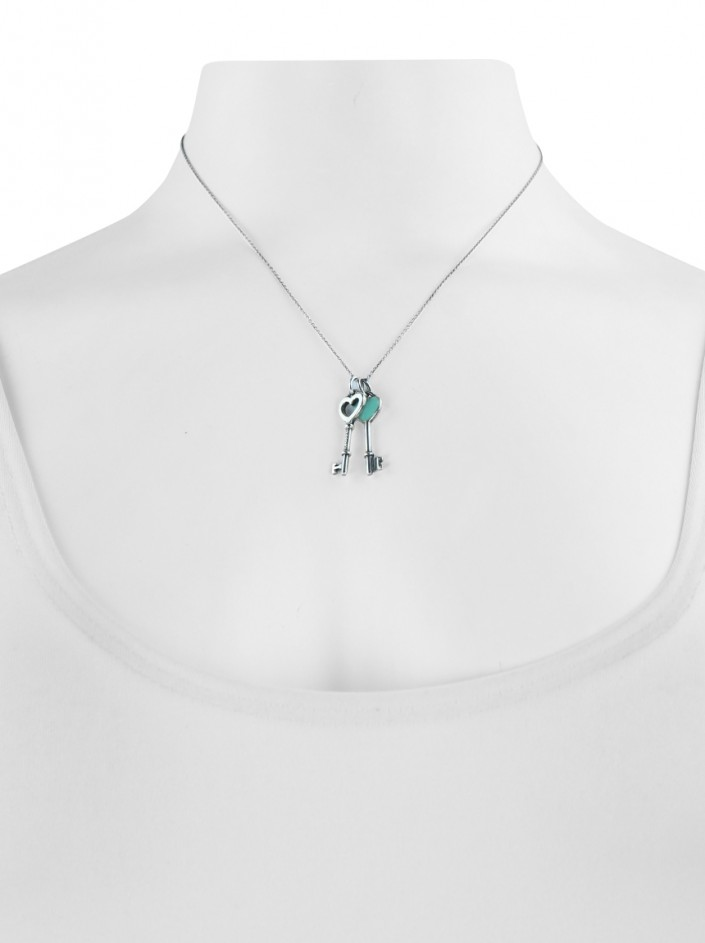 Colar Tiffany & Co Chaves Prata 925