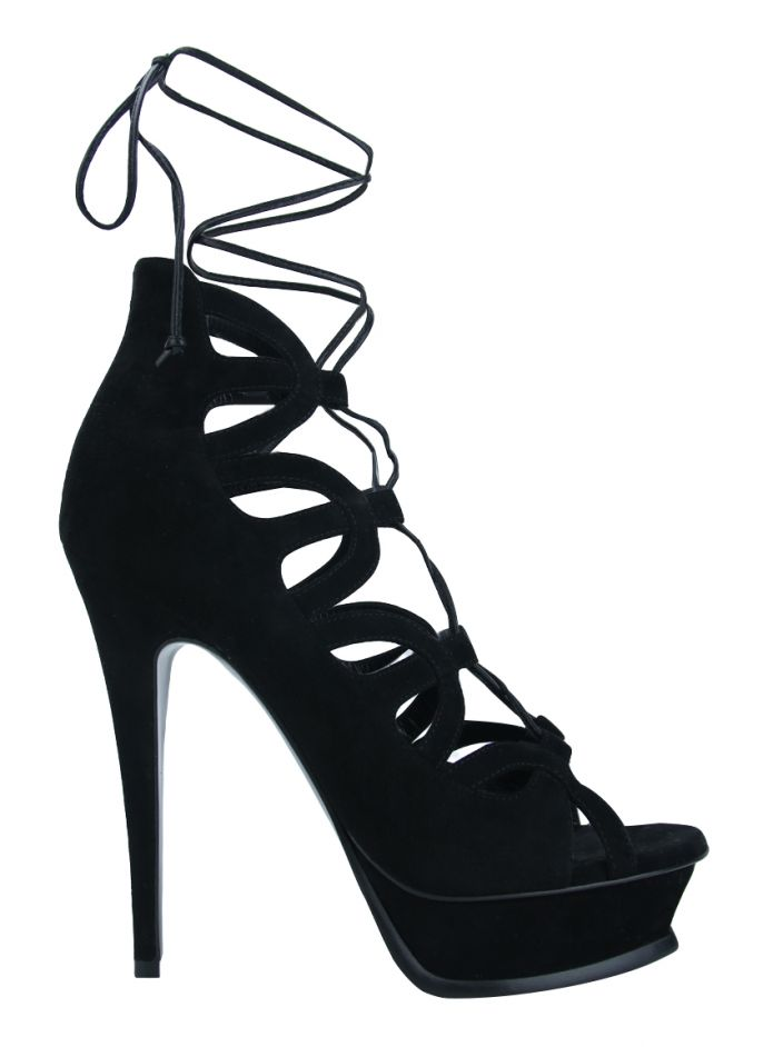 Sapato Saint Laurent Tribute Sixteen 105 Preto