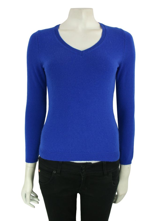 Suéter C By Bloomingdale's Cashmere Azul