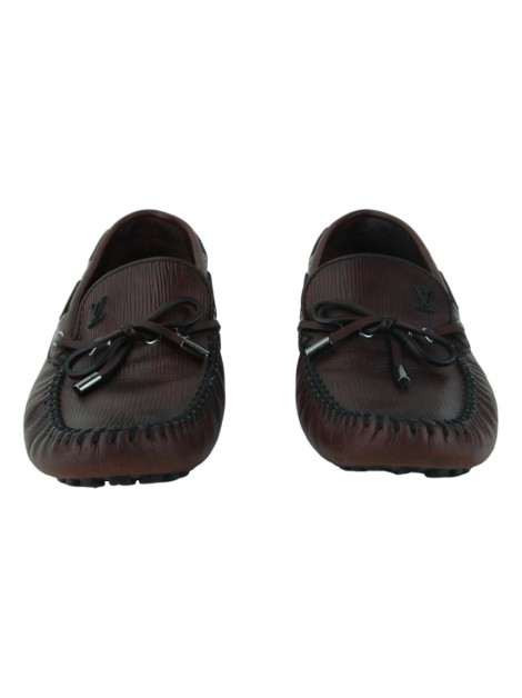 Sapato Louis Vuitton Mocassim Epi Arizona Bordô