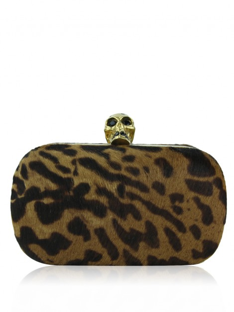 Clutch Alexander McQueen Box Animal Print