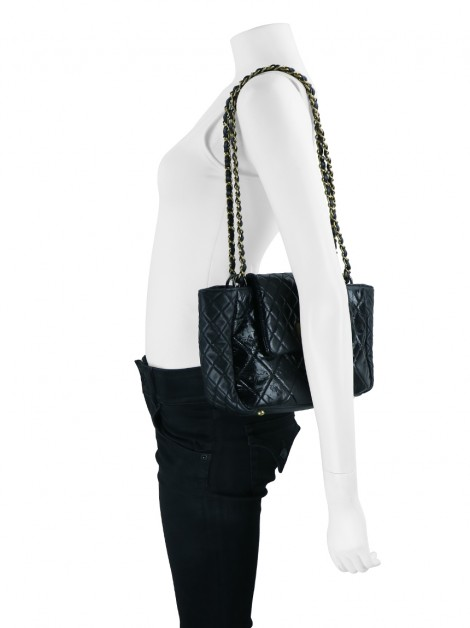 Bolsa Chanel Reissue Accordion Preto
