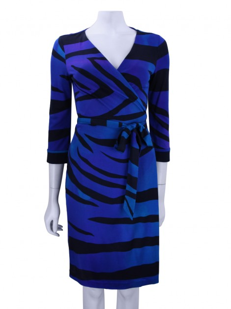Vestido Diane Von Furstenberg New Julian Two Estampado Azul