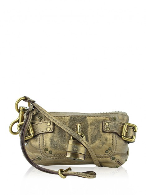 Clutch Chloé Mini Paddington Metálica