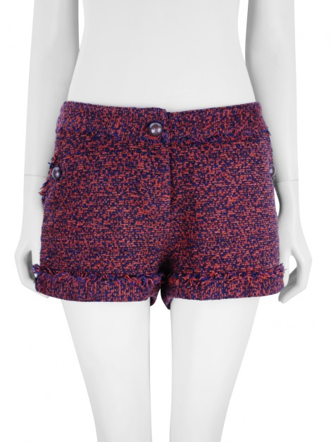 Shorts Mixed Tweed Laranja