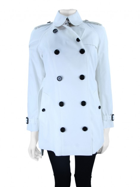Casaco Burberry Trench Coat Off White