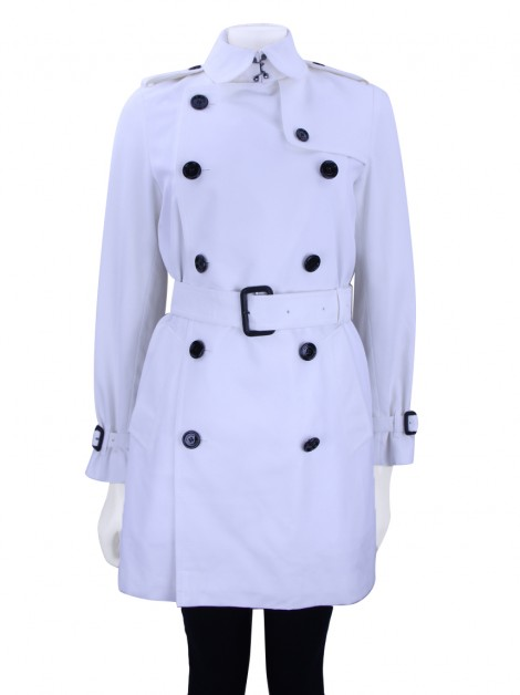 Trench Coat Burberry Clássico Branco