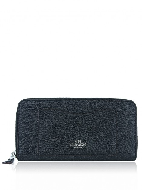 Carteira Coach Accordion Zip Preto