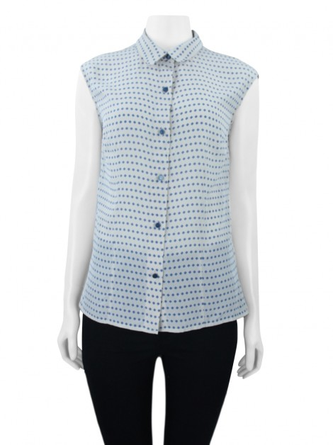 Blusa Marc By Marc Jacobs Seda Bicolor
