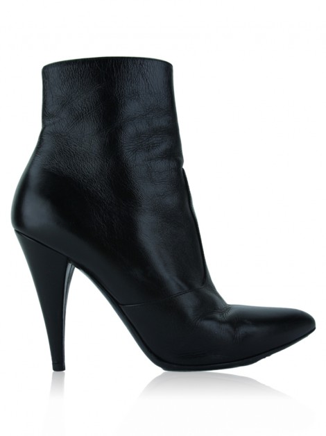 Bota Yves Saint Laurent Fetish Couro Preto