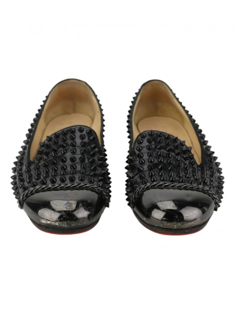 Sapato Christian Louboutin Rollergirl Spiked Preto
