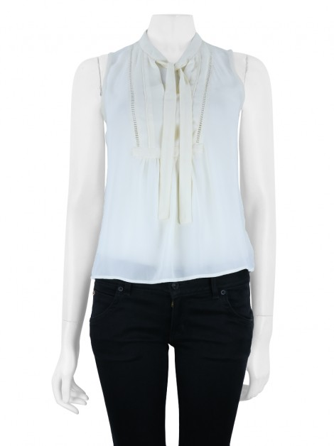 Blusa Banana Republic Laço Off- White