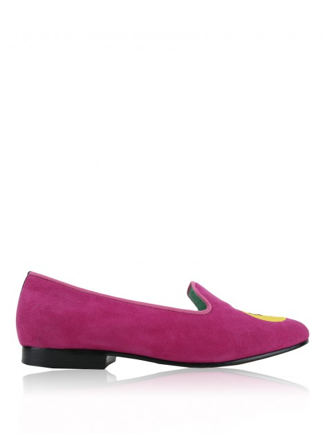 Loafer Blue Bird Emoji Rosa