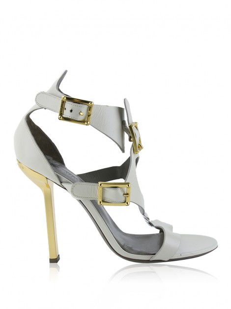 Sandália Versace Collection Couro Off White
