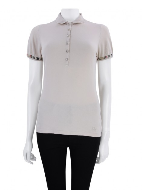 Camisa Burberry Brit Polo Bege