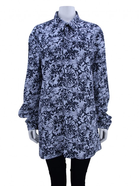 Camisa Versace Collection Estampado Preto e Branco