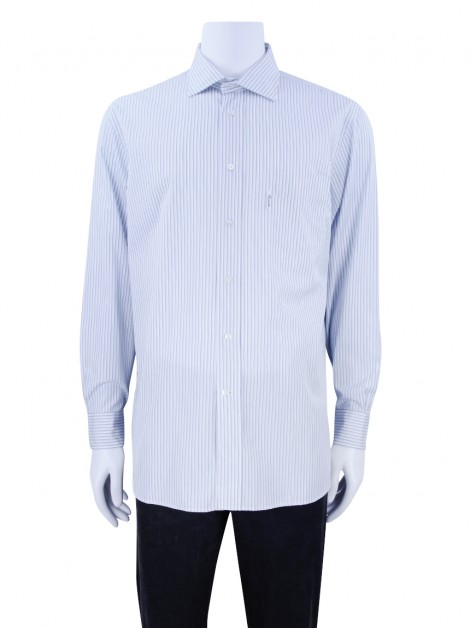 Camisa Façonnable Classique Listras Masculina Branco