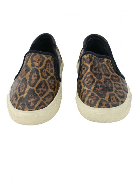 Tênis Yves Saint Laurent Skate Slip On Animal Print