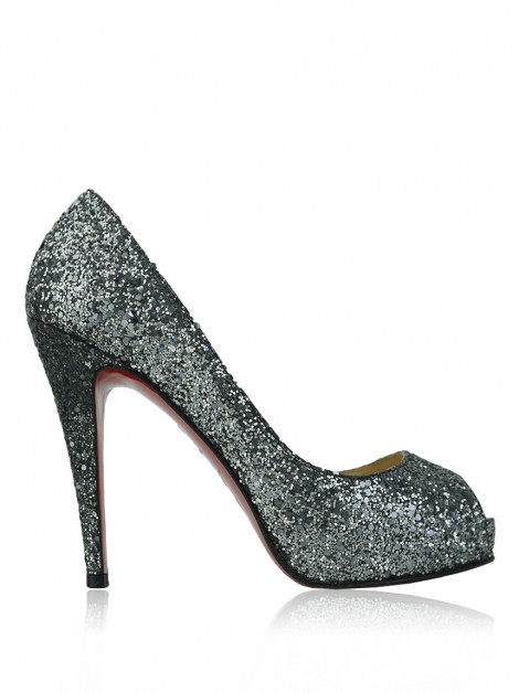 Sapato Christian Louboutin Very Prive Glitter Anthracite