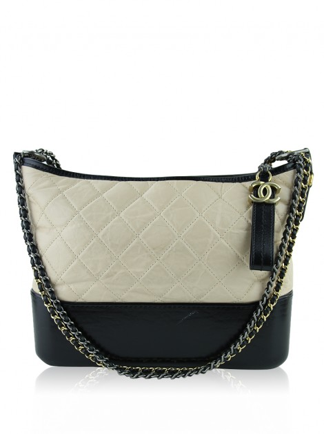 Bolsa Chanel Gabrielle Aged Calfskin Medium Bicolor