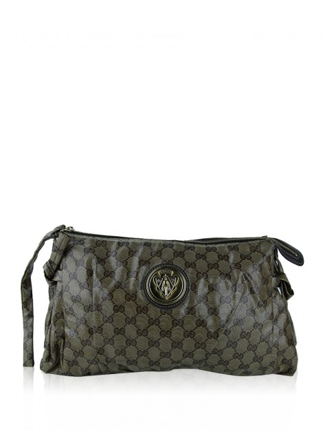 Clutch Gucci Hysteria Crystal Canvas Monograma