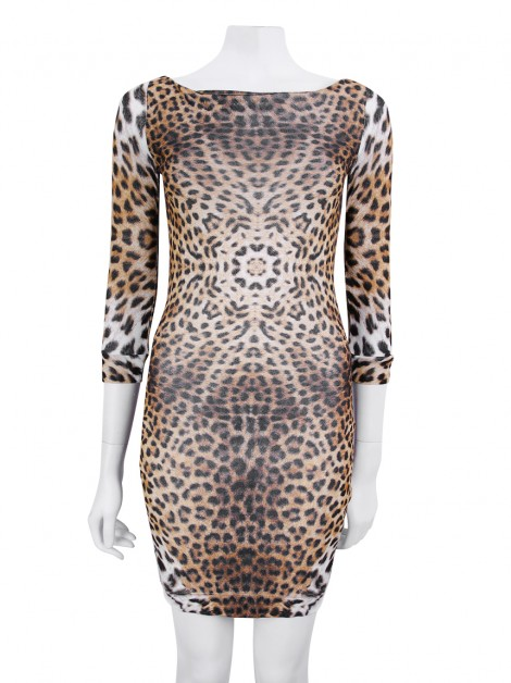 Vestido Just Cavalli Midi Animal Print