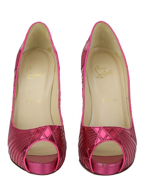 Sapato Christian Louboutin Very Galaxy Mirror Pink