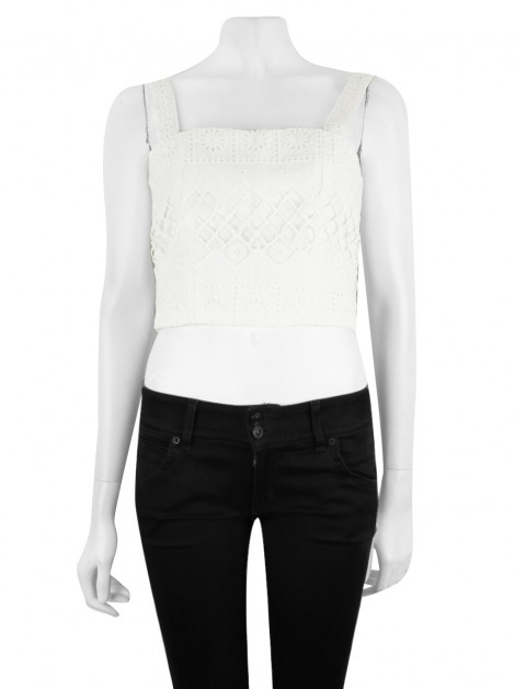Blusa Amissima Summer Off-White