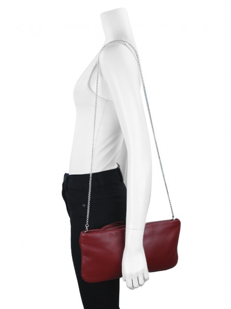 Bolsa Miu Miu Clutch on Chain Vermelha