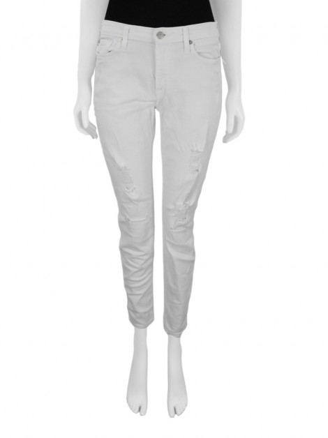 Calça Seven For All Mankind Ankle Skinny Branca